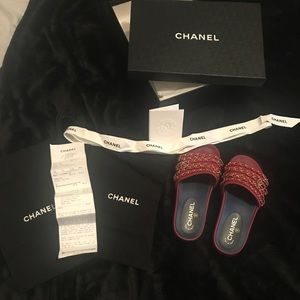 Chanel shoes slides